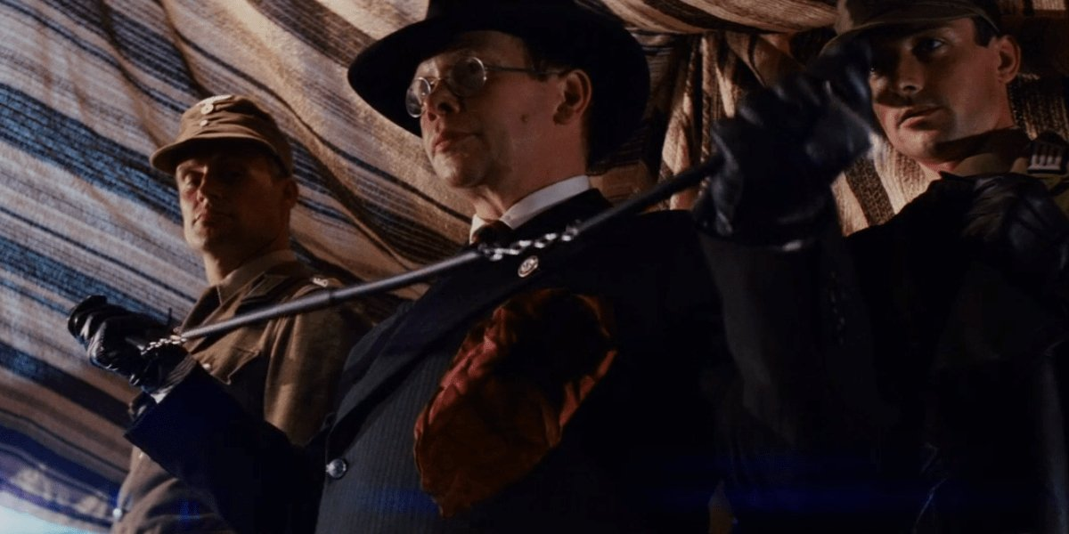 Ronald Lacey as Toht in Raiders of the Lost Ark