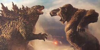 Kong punching godzilla