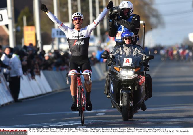 Jasper Stuyven (Trek-Segafredo) wins Kuurne-Brussel-Kuurne