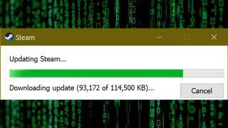 The Steam update bar