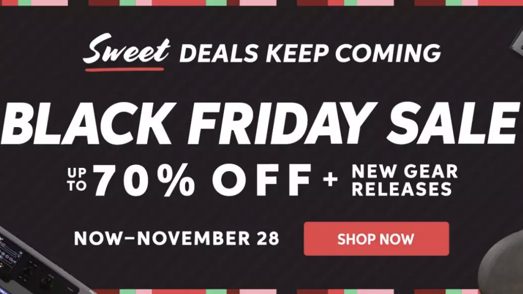 Sweetwater's official Black Friday sale is here! Save up to a massive 70% off guitar gear