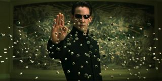 Neo stopping bullets in midair