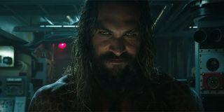 Jason Momoa as Aquaman smiling