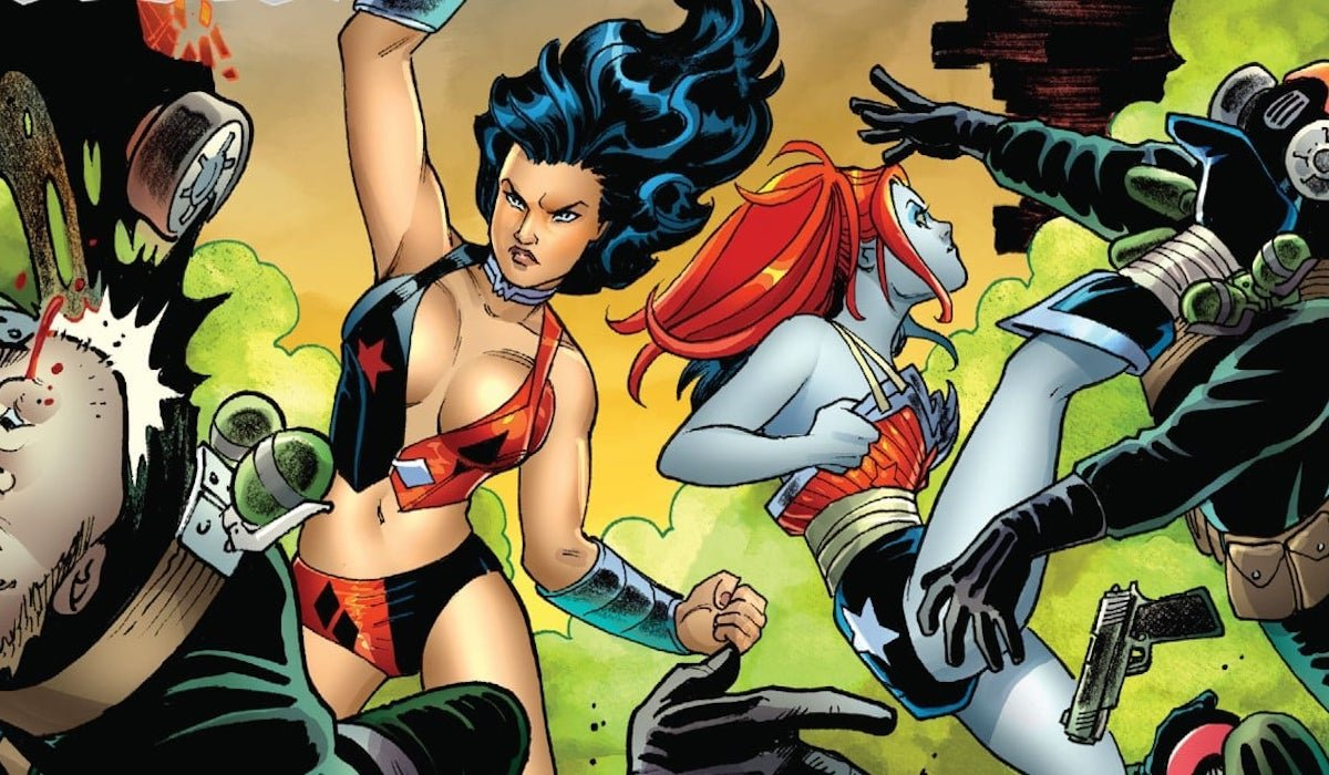 Wonder Woman and Harley Quinn in the comics, costume swap
