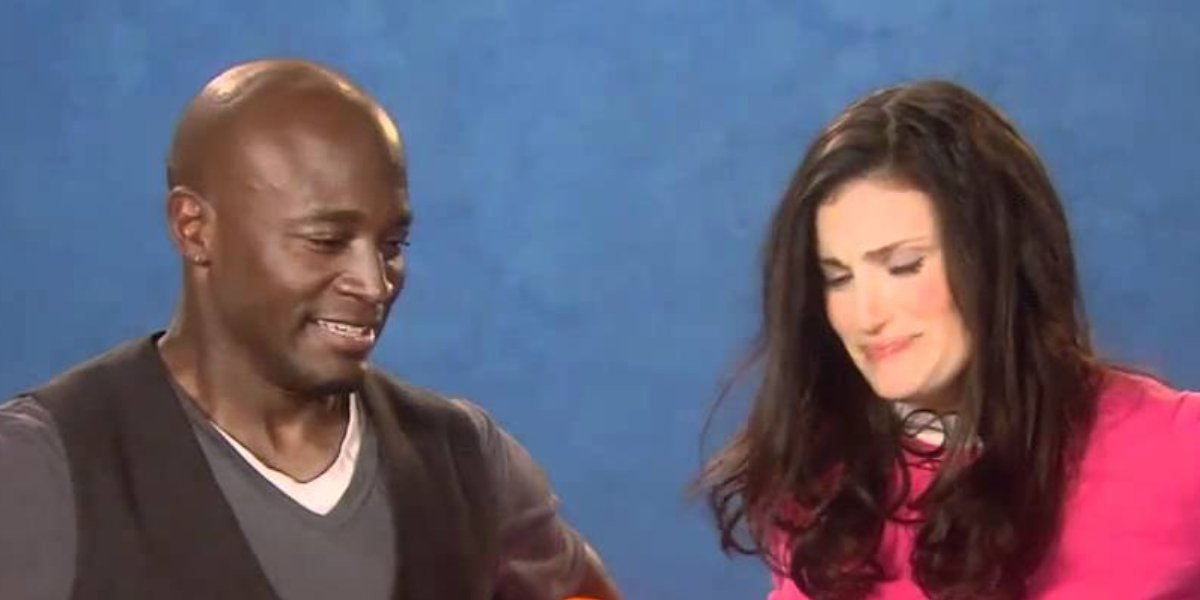 Taye Diggs and Idina Menzel on Sesame Street