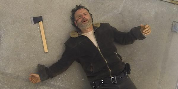 rick defeated walking dead season 7 premiere