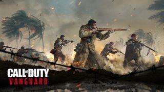 Солдаты Второй мировой войны сражаются в ключевом арте Call of Duty: Vanguard