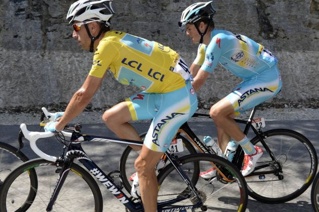 Vincenzo Nibali on stage eleven of the 2014 Tour de France