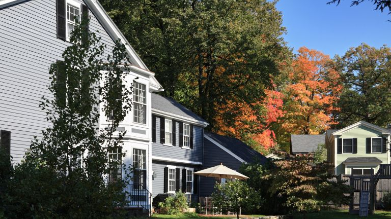 Period wooden houses within Concord Massachusetts