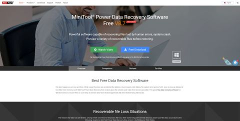 MiniTool Power Data Recovery V8.7 review