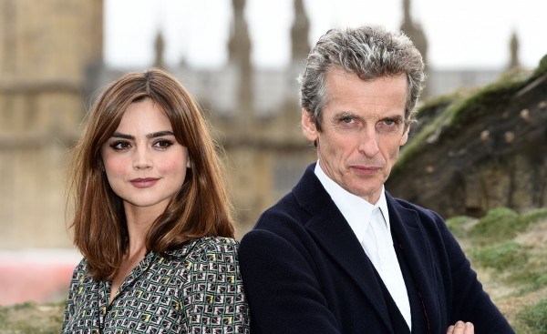 Doctor Who's Jenna Coleman and Peter Capaldi