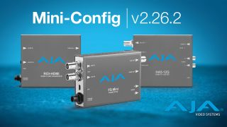 Mini-Config v2.26.2 is a free software update for select AJA 12G-SDI, 4K/UltraHD and Region of Interest scan converters.
