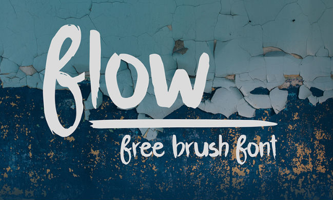 Free graffiti fonts: Flow