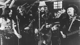 Humble Pie circa 1970. (from left) Jerry Shirley, Peter Frampton, Greg Ridley, and Steve Marriott