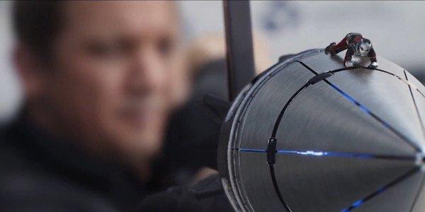 Ant-man riding Hawkeye arrow in Civil War