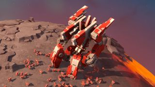 A titan, one of Planetary Annihilation's experimental giant robots