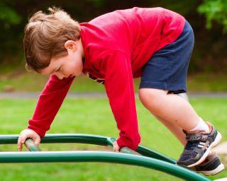 climb, playground, kid