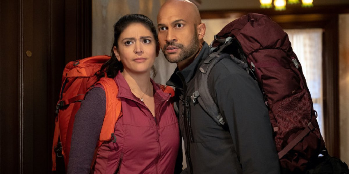 Keegan-Michael Key and Cecily Strong in the first still from Schmigadoon!