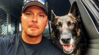 Ted Summers sat next to one of the toughest police dogs