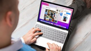 Man using macOS Monterey on a MacBook