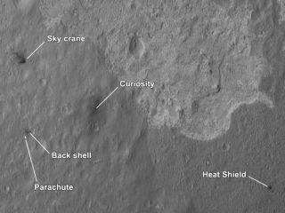 Curiosity and Sky Crane