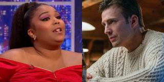 Lizzo and Chris evans side by side