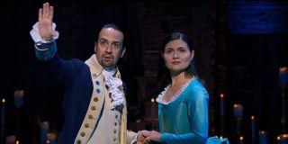 Lin-Manuel Miranda and Phillipa Soo in Hamilton musical