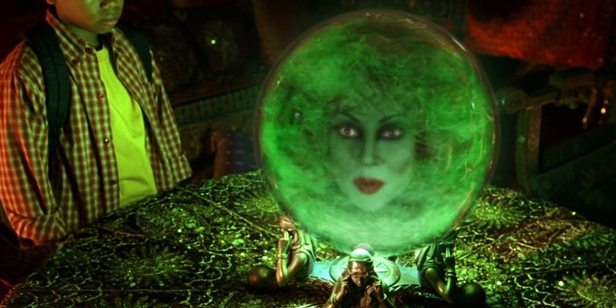 Jennifer Tilly as Madame Leota in Haunted Mansion movie