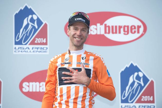 Jens Voigt retires, Stage 7 of the 2014 USA Pro Challenge, Boulder to Golden to Denver, Colorado