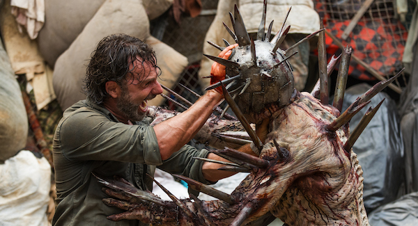 Rick fighting winston walking dead