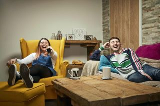 Gogglebox 2021 stars Pete and Sophie.