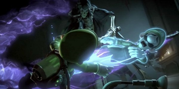 Luigi gets his spirit ripped out by Death.