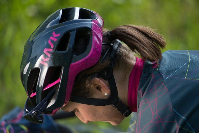 Kask Protect Your Ride kit modelled by Elisa Longo Borghini