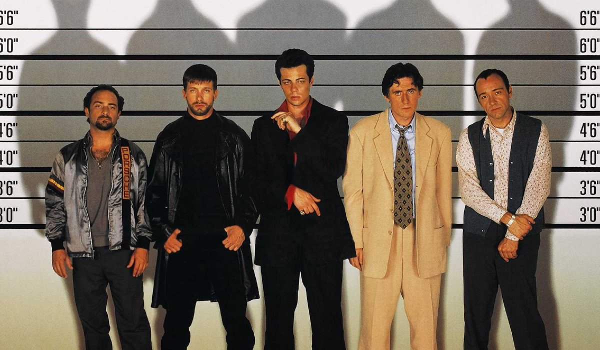 The Usual Suspects characters in a police lineup