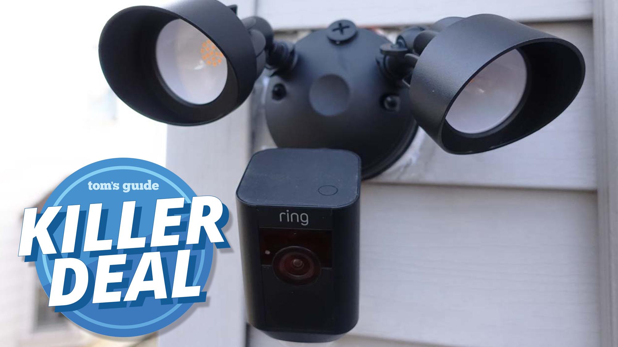Killer Ring Deal 100 Off Ring Floodlight Camera And Echo Dot Bundle Tom S Guide