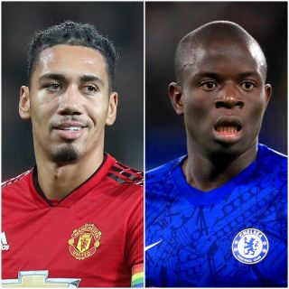 Chris Smalling and N'Golo Kante