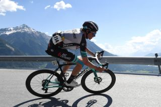 LEUKERBAD SWITZERLAND JUNE 10 Lucas Hamilton of Australia and Team Bikeexchange during the 84th Tour de Suisse 2021 Stage 5 a 1752km stage from Gstaad to Leukerbad 1385m UCIworldtour tds tourdesuisse on June 10 2021 in Leukerbad Switzerland Photo by Tim de WaeleGetty Images