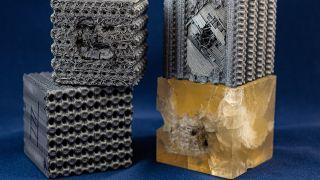 3D polymer bulletproof cubes