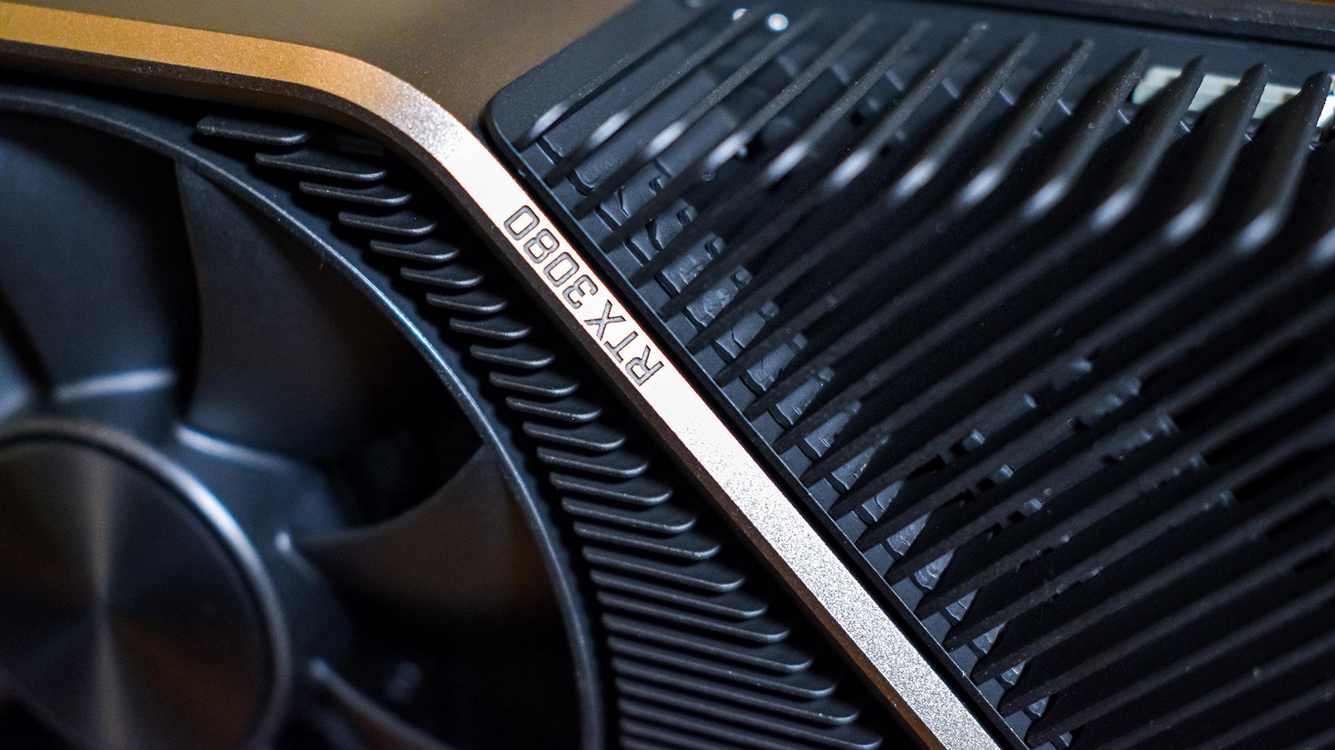 Nvidia GeForce RTX 3080 at close-up