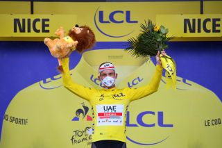 UAE Team Emirates' Alexander Kristoff took the 2020 Tour de France's first yellow jersey