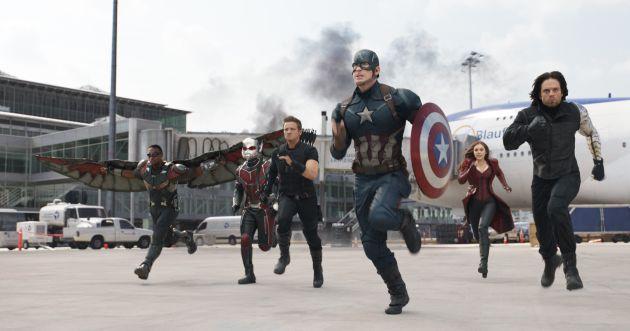 TV hoje à noite Capitão América: Guerra Civil