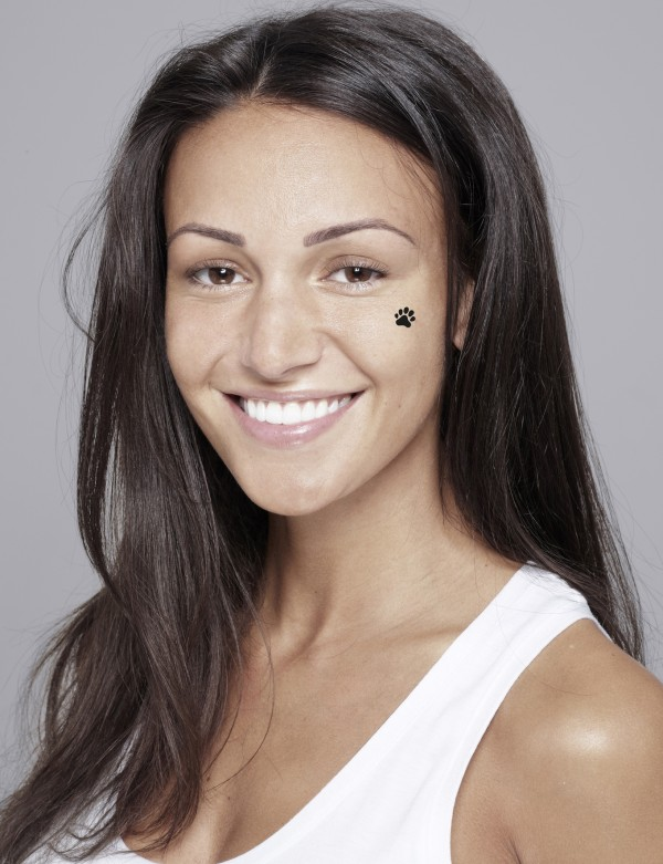 Michelle Keegan goes bare-faced for Children In Need