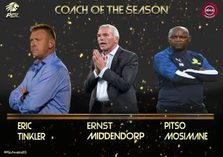 Eric Tinkler, Ernst Middendorp and Pitso Mosimane