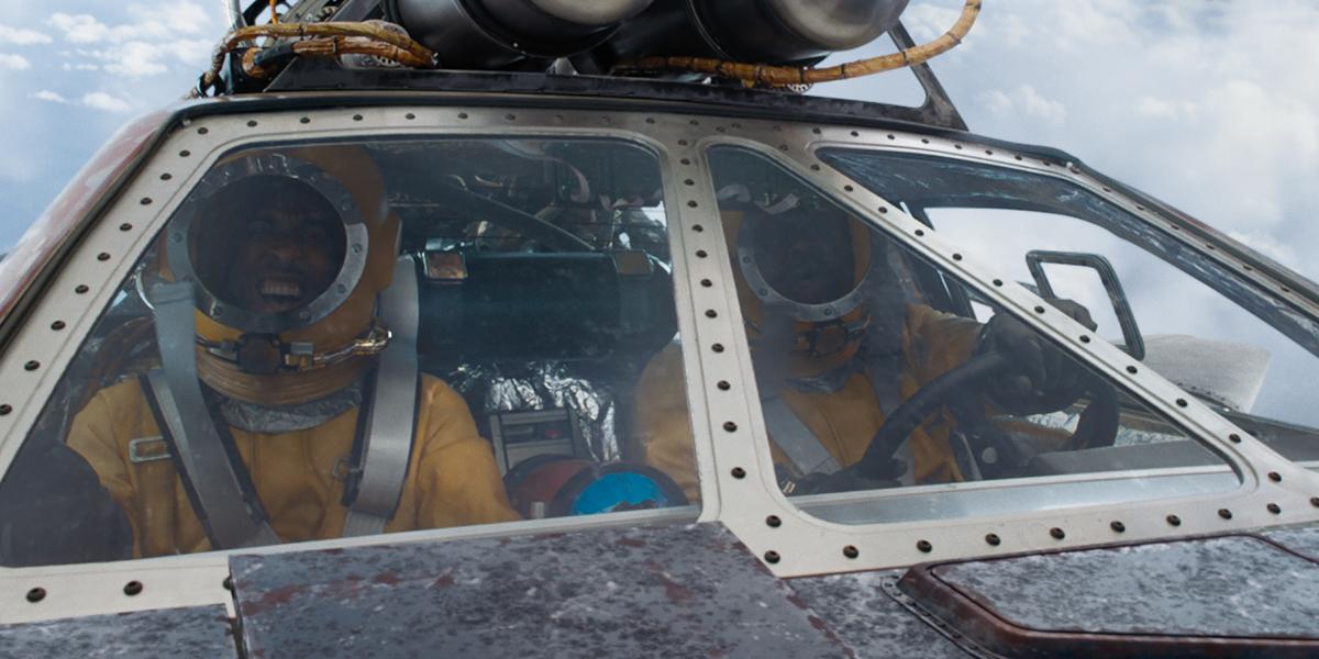 F9 Tej and Roman go to space Tyrese Gibson Chris Ludacris Bridges