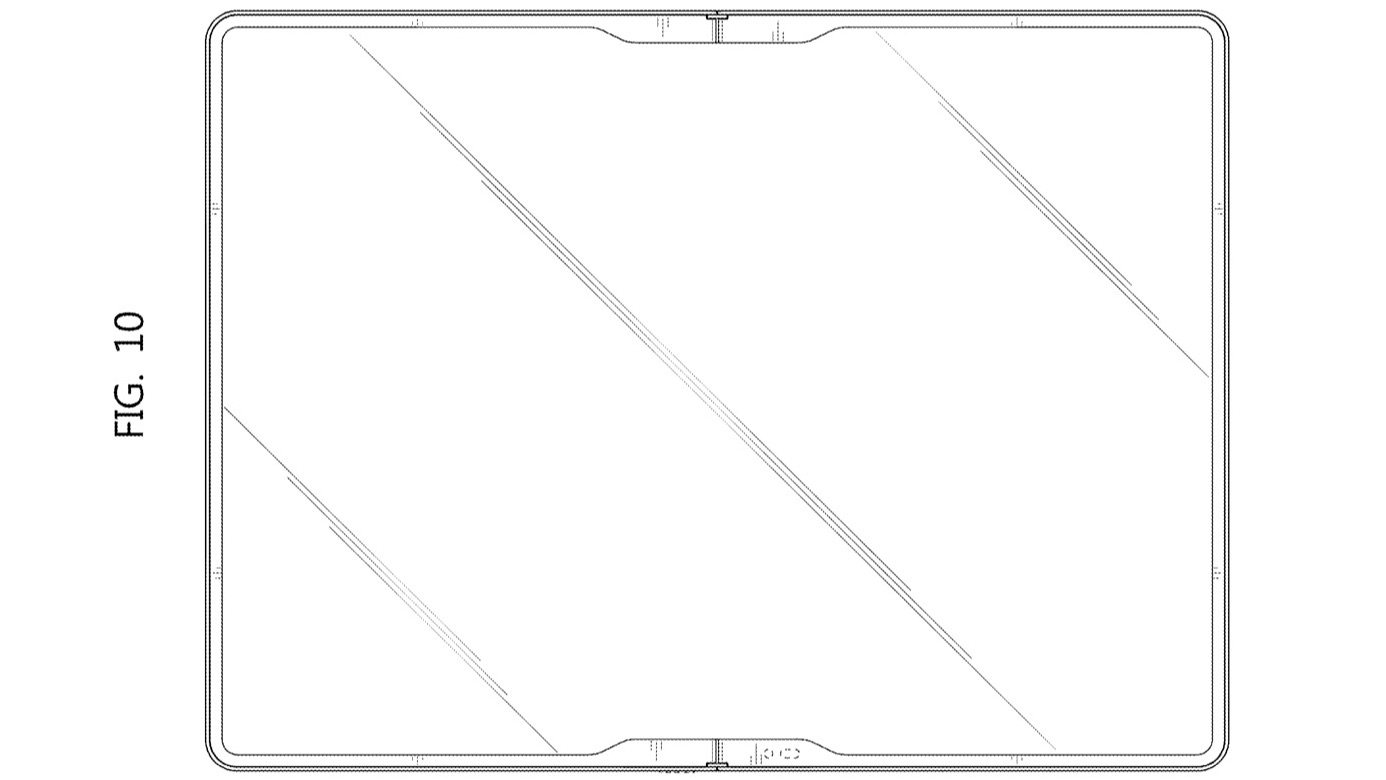 A patent render of a potential Galaxy Z Fold Tab design