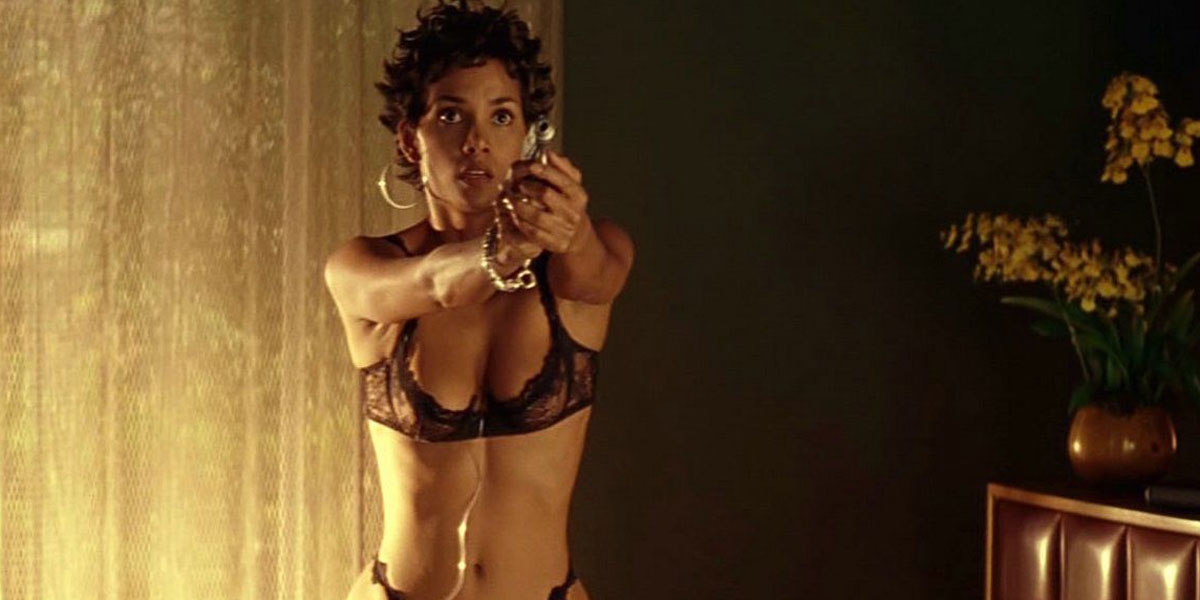 Halle Berry in the bedroom in Swordfish