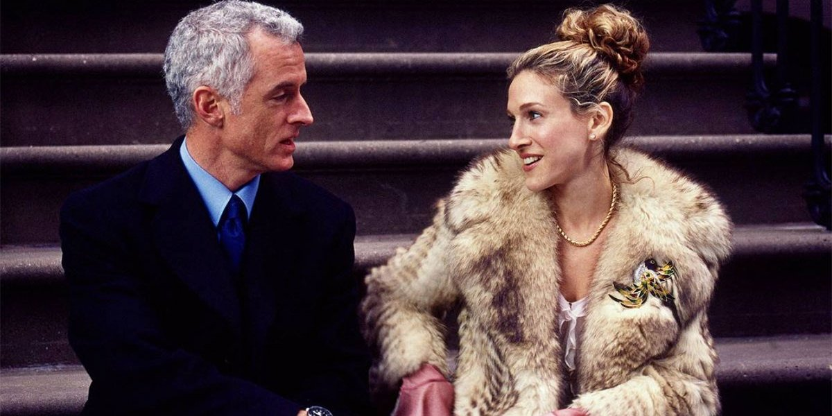 John Slattery and Sarah Jessica Parker on Sex and the City
