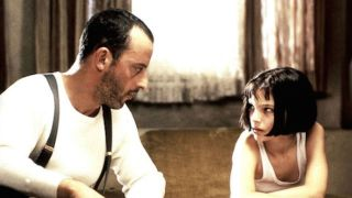 In 'The Professional,' Jean Reno and Natalie Portman star as a hit man and an orphaned girl who team up against corrupt DEA agents.