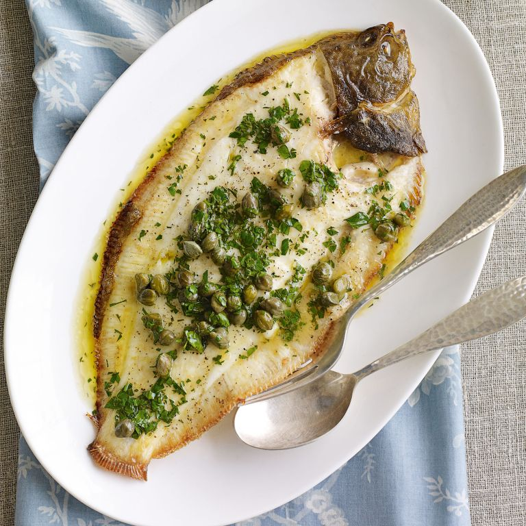 Grilled Whole Sole with Lemon and Caper Butter recipe-recipe ideas-new recipes-woman and home