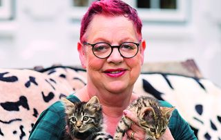 Fresh from supporting eliminated contestants on Bake Off: An Extra Slice, Jo Brand turns her attention to saving little kitties from precarious situations – she's a softie, really!